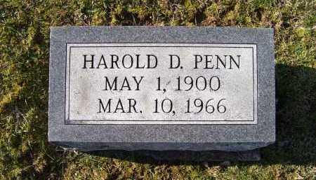 PENN, HAROLD D. - Adams County, Ohio | HAROLD D. PENN - Ohio Gravestone Photos
