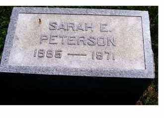 PETERSON, SARAH E. - Adams County, Ohio | SARAH E. PETERSON - Ohio Gravestone Photos