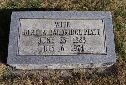 PIATT, BERTHA - Adams County, Ohio | BERTHA PIATT - Ohio Gravestone Photos