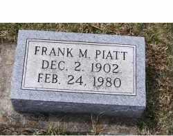 PIATT, FRANK M. - Adams County, Ohio | FRANK M. PIATT - Ohio Gravestone Photos