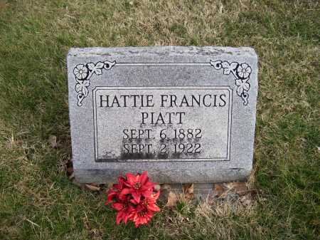 PIATT, HATTIE FRANCIS - Adams County, Ohio | HATTIE FRANCIS PIATT - Ohio Gravestone Photos