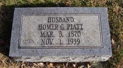 PIATT, HOMER G. - Adams County, Ohio | HOMER G. PIATT - Ohio Gravestone Photos