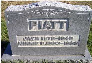PIATT, JACK - Adams County, Ohio | JACK PIATT - Ohio Gravestone Photos
