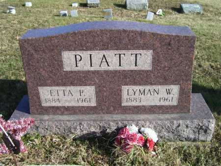 PIATT, ETTA P. - Adams County, Ohio | ETTA P. PIATT - Ohio Gravestone Photos