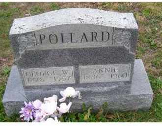 POLLARD, GEORGE W. - Adams County, Ohio | GEORGE W. POLLARD - Ohio Gravestone Photos