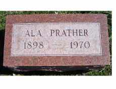 PRATHER, ALA - Adams County, Ohio | ALA PRATHER - Ohio Gravestone Photos