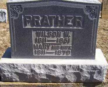PRATHER, WILSON W. - Adams County, Ohio | WILSON W. PRATHER - Ohio Gravestone Photos