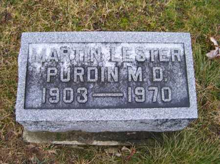 PURDIN, MARTIN LESTER - Adams County, Ohio | MARTIN LESTER PURDIN - Ohio Gravestone Photos
