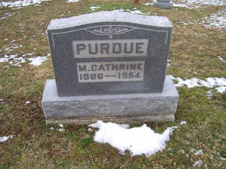 PURDUE, M. CATHERINE - Adams County, Ohio | M. CATHERINE PURDUE - Ohio Gravestone Photos