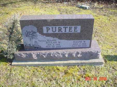 PURTEE, RALPH W. - Adams County, Ohio | RALPH W. PURTEE - Ohio Gravestone Photos