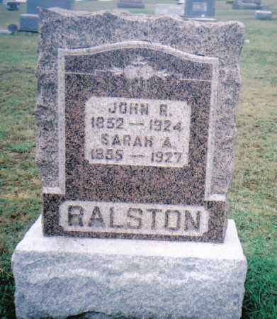 RALSTON, SARAH A. - Adams County, Ohio | SARAH A. RALSTON - Ohio Gravestone Photos