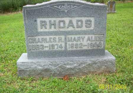 RHAODS, CHARLES H - Adams County, Ohio | CHARLES H RHAODS - Ohio Gravestone Photos
