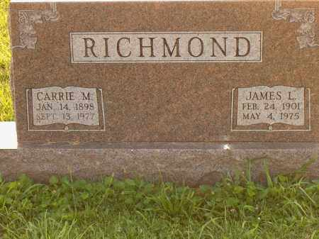 RICHMOND, CARRIE M - Adams County, Ohio | CARRIE M RICHMOND - Ohio Gravestone Photos