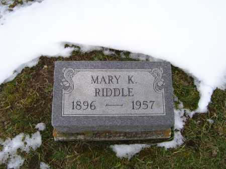 RIDDLE, MARY K. - Adams County, Ohio | MARY K. RIDDLE - Ohio Gravestone Photos