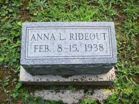 RIDEOUT, ANNA L - Adams County, Ohio | ANNA L RIDEOUT - Ohio Gravestone Photos