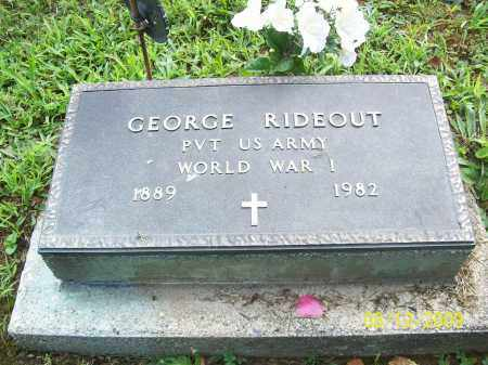 RIDEOUT, GEORGE - Adams County, Ohio | GEORGE RIDEOUT - Ohio Gravestone Photos
