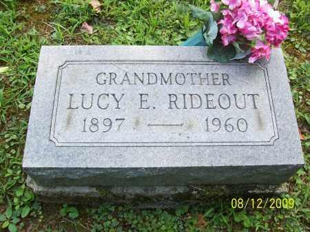 RIDEOUT, LUCY E - Adams County, Ohio | LUCY E RIDEOUT - Ohio Gravestone Photos