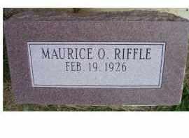 RIFFLE, MAURICE O. - Adams County, Ohio | MAURICE O. RIFFLE - Ohio Gravestone Photos