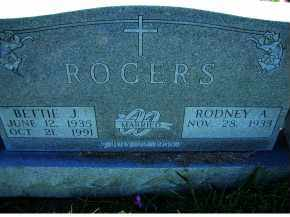 ROGERS, BETTIE J. - Adams County, Ohio | BETTIE J. ROGERS - Ohio Gravestone Photos