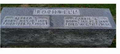 ROTHWELL, CARRIE A. - Adams County, Ohio | CARRIE A. ROTHWELL - Ohio Gravestone Photos