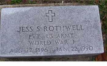 ROTHWELL, JESS S. - Adams County, Ohio | JESS S. ROTHWELL - Ohio Gravestone Photos