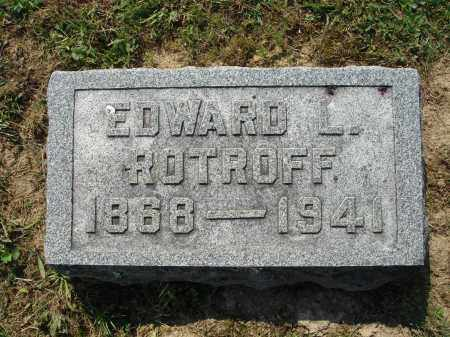 ROTROFF, EDWARD L. - Adams County, Ohio | EDWARD L. ROTROFF - Ohio Gravestone Photos
