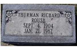 ROUSH, THURMAN RICHARD - Adams County, Ohio | THURMAN RICHARD ROUSH - Ohio Gravestone Photos