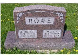 ROWE, HATTIE - Adams County, Ohio | HATTIE ROWE - Ohio Gravestone Photos