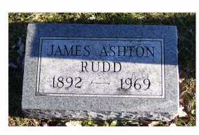 RUDD, JAMES ASHTON - Adams County, Ohio | JAMES ASHTON RUDD - Ohio Gravestone Photos