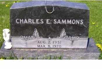SAMMONS, CHARLES E. - Adams County, Ohio | CHARLES E. SAMMONS - Ohio Gravestone Photos