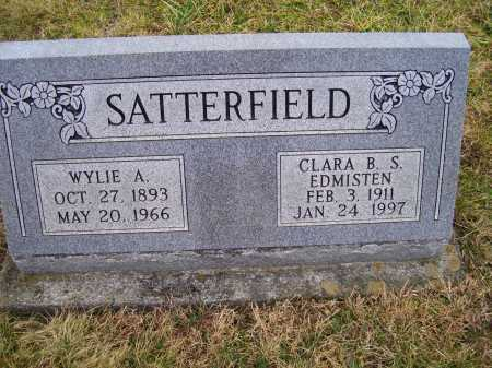 SATTERFIELD, WYLIE A. - Adams County, Ohio | WYLIE A. SATTERFIELD - Ohio Gravestone Photos