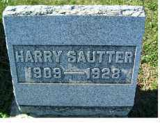 SAUTTER, HARRY - Adams County, Ohio | HARRY SAUTTER - Ohio Gravestone Photos