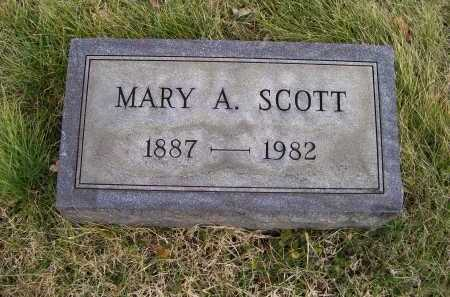 SCOTT, MARY A. - Adams County, Ohio | MARY A. SCOTT - Ohio Gravestone Photos