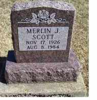 SCOTT, MERLIN J. - Adams County, Ohio | MERLIN J. SCOTT - Ohio Gravestone Photos