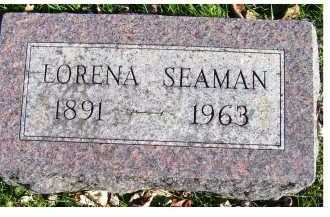 SEAMAN, LORENA - Adams County, Ohio | LORENA SEAMAN - Ohio Gravestone Photos