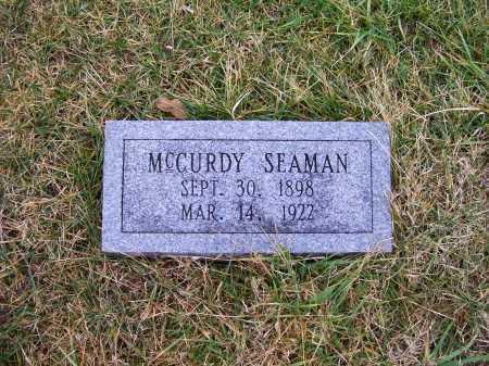 SEAMAN, MCCURDY - Adams County, Ohio | MCCURDY SEAMAN - Ohio Gravestone Photos