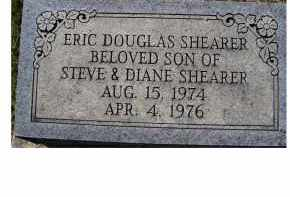 SHEARER, ERIC DOUGLAS - Adams County, Ohio | ERIC DOUGLAS SHEARER - Ohio Gravestone Photos