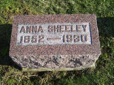SHEELEY, ANNA - Adams County, Ohio | ANNA SHEELEY - Ohio Gravestone Photos