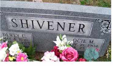 SHIVENER, OCIE M. - Adams County, Ohio | OCIE M. SHIVENER - Ohio Gravestone Photos