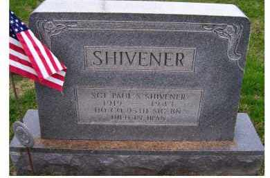 SHIVENER, PAUL S. - Adams County, Ohio | PAUL S. SHIVENER - Ohio Gravestone Photos