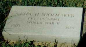 SHOEMAKER, CLYDE H. - Adams County, Ohio | CLYDE H. SHOEMAKER - Ohio Gravestone Photos
