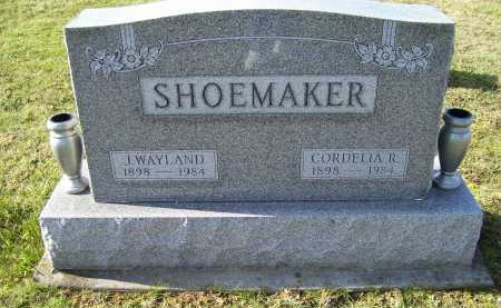 SHOEMAKER, J. WAYLAND - Adams County, Ohio | J. WAYLAND SHOEMAKER - Ohio Gravestone Photos