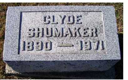 SHUMAKER, CLYDE - Adams County, Ohio | CLYDE SHUMAKER - Ohio Gravestone Photos