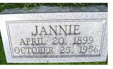 SHUMAKER, JANNIE - Adams County, Ohio | JANNIE SHUMAKER - Ohio Gravestone Photos