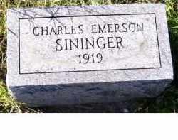 SININGER, CHARLES EMERSON - Adams County, Ohio | CHARLES EMERSON SININGER - Ohio Gravestone Photos