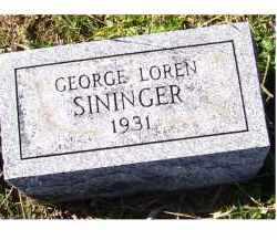 SININGER, GEORGE LOREN - Adams County, Ohio | GEORGE LOREN SININGER - Ohio Gravestone Photos