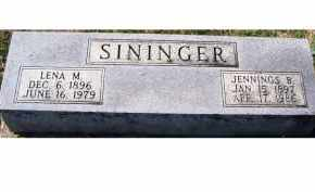SININGER, LENA M. - Adams County, Ohio | LENA M. SININGER - Ohio Gravestone Photos