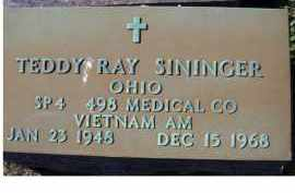 SININGER, TEDDY RAY - Adams County, Ohio | TEDDY RAY SININGER - Ohio Gravestone Photos