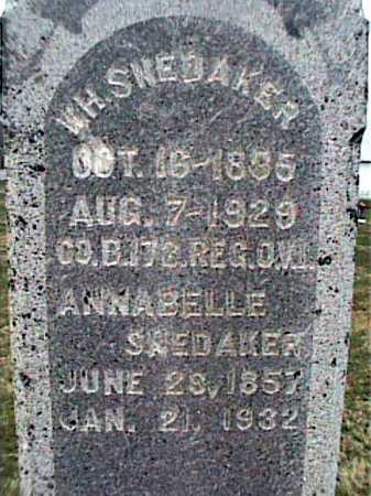 SNEKAKER, ANNABELLE - Adams County, Ohio | ANNABELLE SNEKAKER - Ohio Gravestone Photos