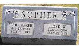 PARKER SOPHER, ELSIE - Adams County, Ohio | ELSIE PARKER SOPHER - Ohio Gravestone Photos